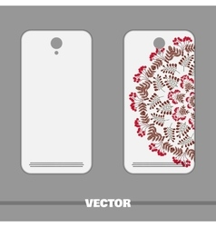 Phone Cover With Red Berries vector image