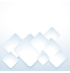 Clean white abstract background template vector