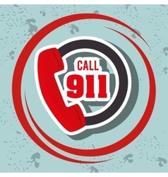 call 911 emergency phone vector image