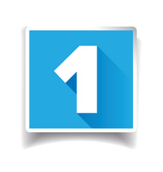 Number one label or number icon vector