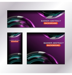 Business banner violet template vector