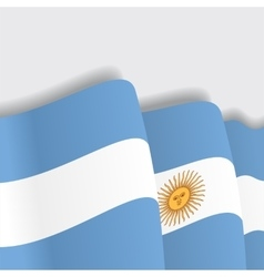 Argentinean waving flag vector
