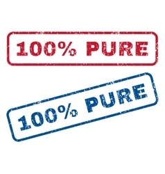 100 percent pure rubber stamps vector