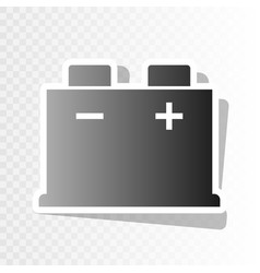 car battery sign  new year blackish icon vector image