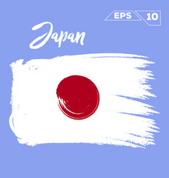 japan flag brush strokes painted vector image