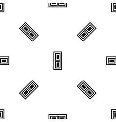 Door pattern seamless black vector