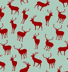 Seamless pattern with christmas deers vector