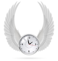 White clock white wings vector