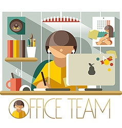 Office team designer vector