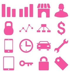 Basic business icons vector