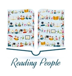 Reading people concept vector