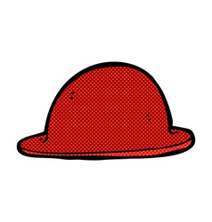 Comic cartoon red bowler hat vector
