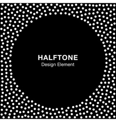 Abstract halftone white dots frame vector