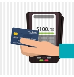Payment with dataphone design vector