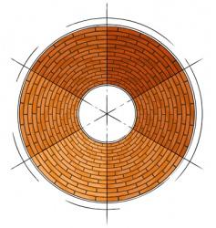 abstract architectural brick circle symbol vector image