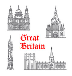 architecture great britain landmarks vector image vector image
