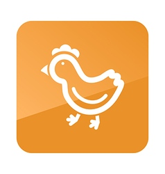Chicken flat icon Animal vector image vector image