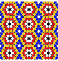 Design seamless colorful mosaic hexagon pattern vector image vector image