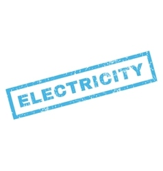 Electricity rubber stamp vector