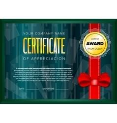 Emerald certificate design vector image