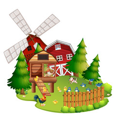 Farm animals on the farm vector