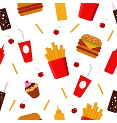 Fast food food background unhealthy food sweets vector