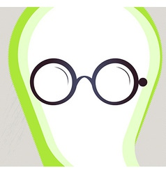 Glasses Retro-style emblem icon pictogram EPS 10 vector image vector image