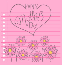 Greeting card of mother day with flower vector