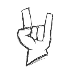 hand gesture icon Rock music design vector image
