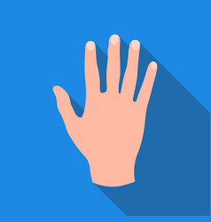 high five icon in flat style isolated on white vector image vector image