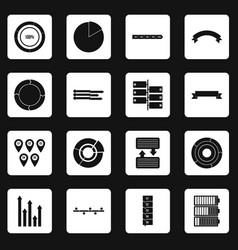 Infographic design parts icons set squares vector