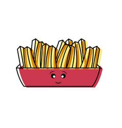 Kawaii french fries vector