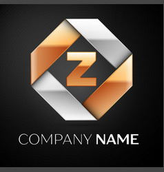 Letter z logo symbol in the colorful rhombus on vector