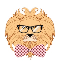 Lion Hipster3 vector image vector image