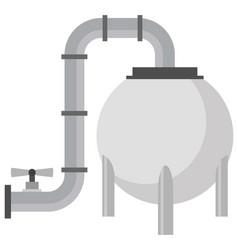 Lng tank icon vector