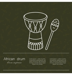 Logo african drum for religion and vector