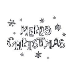 merry christmas zentangle vector image