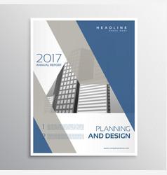 Minimal elegant brochure or leaflet template vector