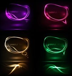 Neon speech bubble vector