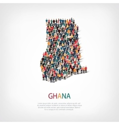 people map country Ghana vector image