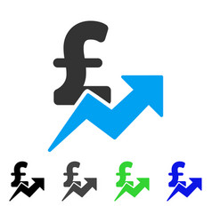 Pound sales growth flat icon vector