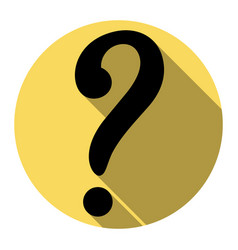 Question mark sign flat black icon with vector