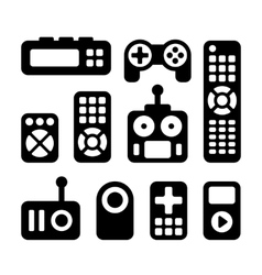 Remote Control Icons Set vector image
