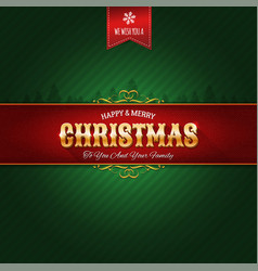 retro christmas ornament background vector image