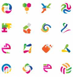 set of abstract design elements vector image