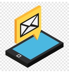 Sms isometric 3d icon vector image vector image