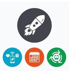 Start up icon Startup business rocket sign vector image