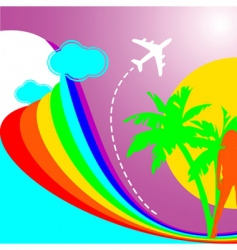 summer rainbow vacation vector image vector image