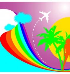 summer rainbow vacation vector image