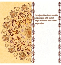 Vintage chocolate and cream ornament background vector image